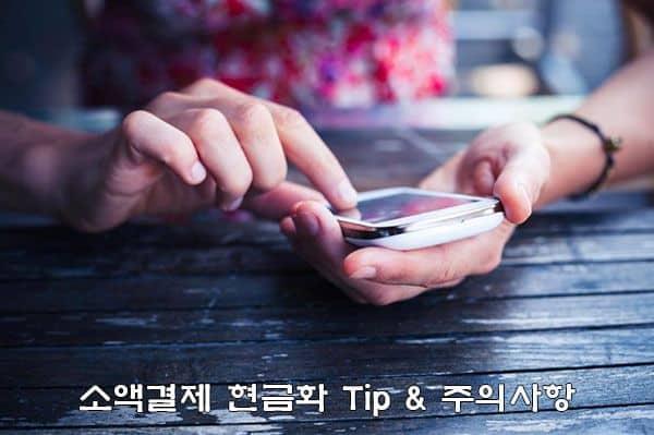 소액결제 현금화 팁(Tip)